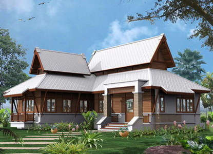 Thai house modern style home design and style for Thai style house design